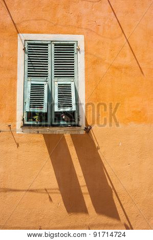 french shutters shadows
