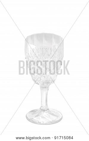 Crystal Wine Glass. Thick Beautiful Design
