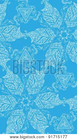 Ornamental seamless background. Paisley design