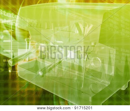 Abstract background digital collage concept illustration coffee business