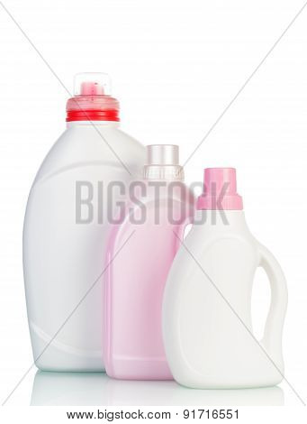 Bottles with washing fluid