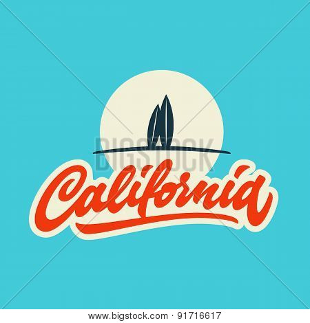 Vintage california calligraphic t-shirt  design