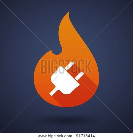 Flame Icon With A Plug