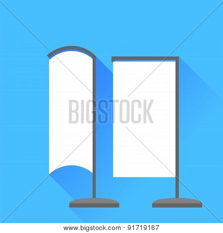 Vertical Beach Banner Icons