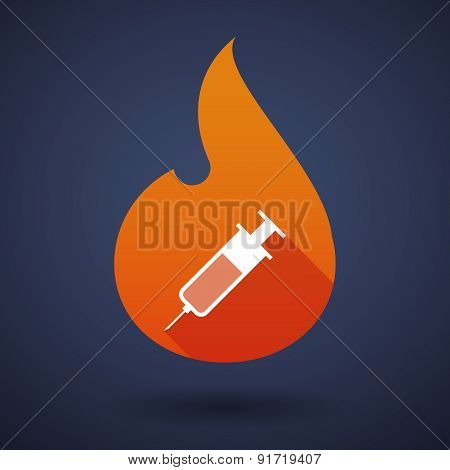 Flame Icon With A Syringe