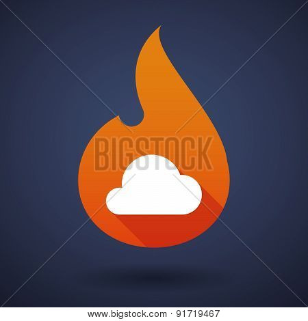 Flame Icon With A Cloud