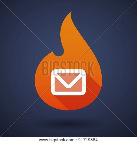 Flame Icon With An Envelope