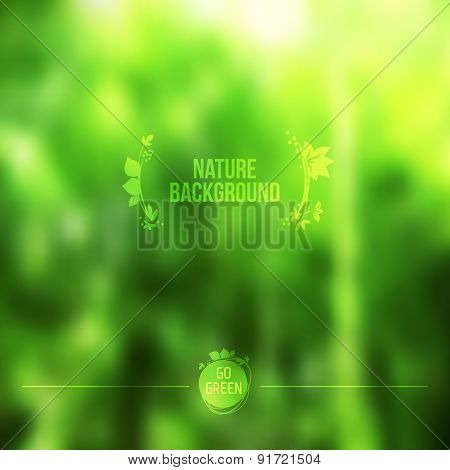 Abstract Forest Vector Background