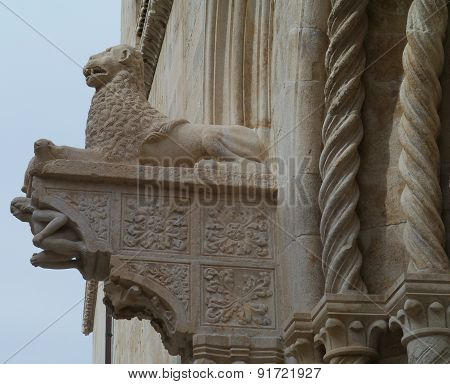An ornamental detail of the St Marco in Korcula
