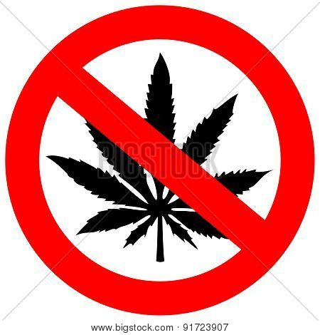 No marijuana sign
