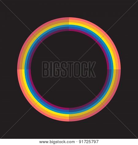 Abstract rainbow color circle with light and dark parts