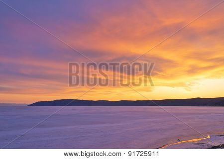 Sunset On The Lake Baikal.