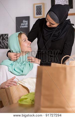 Muslim And Caucasian Women