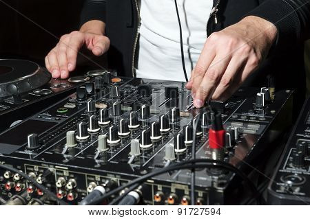 DJ at nightclub party