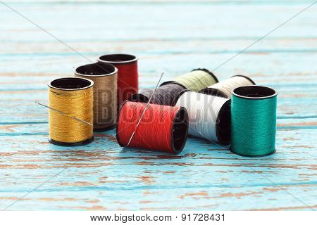 Needle Colorful Thread Needlework Embroidery Tailor Craft Repair