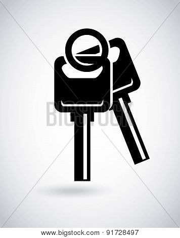 Security design over gray background vector illustration