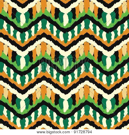 Green and Orange Hippie Pattern