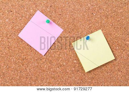 Sticky Posts On Cork Board