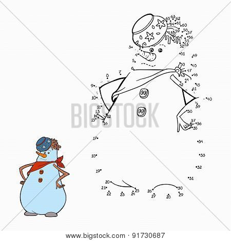 Numbers game (snowman)