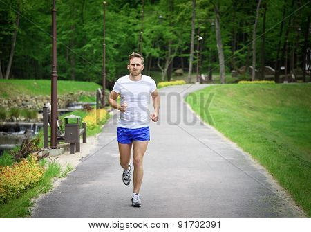 Running Fitness Man