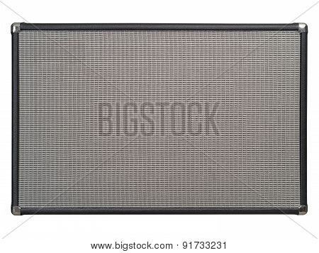 Front Of Guitar Amplifier Speaker Cabinet