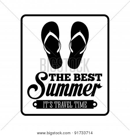 Summer design over white background vector illustration