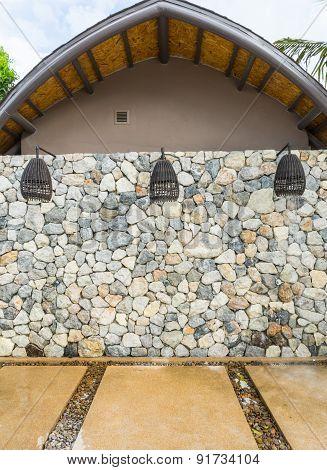 Outdoor Rattan Shower