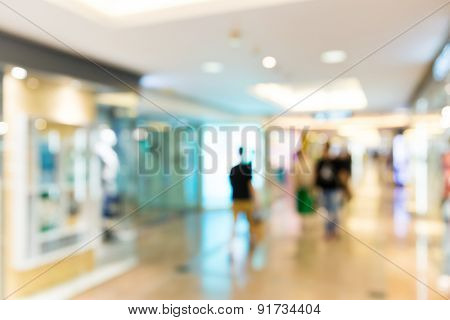 Unfocused background of Shopping center