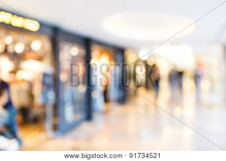 Unfocused background of Shopping mall