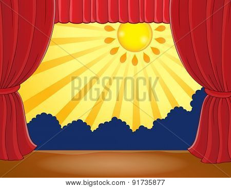 Stage with abstract sun 4 - eps10 vector illustration.