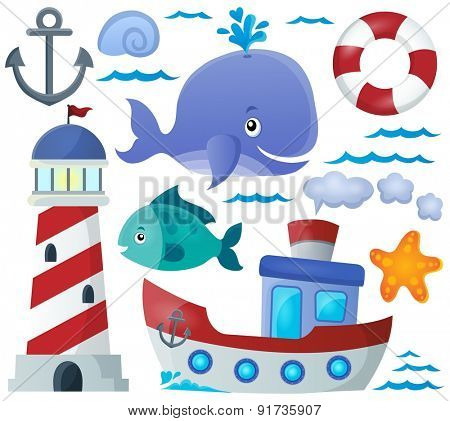 Ocean theme collection 1 - eps10 vector illustration.