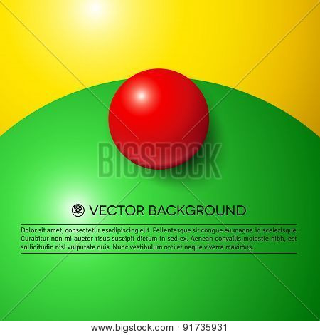 Abstract minimal frame with colorful balls