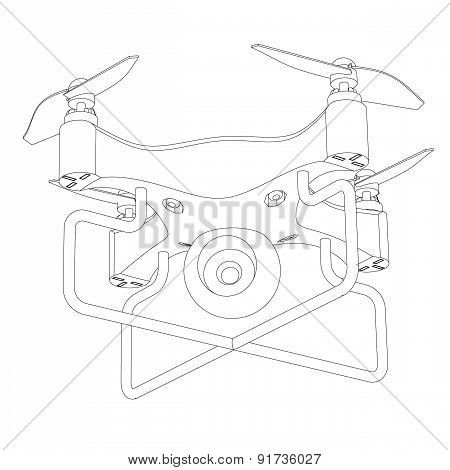 Mobile aerial device With A Video Camera A Close Up