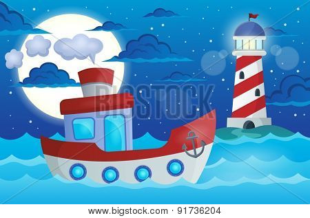 Boat theme image 1 - eps10 vector illustration.