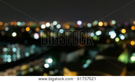 Bokeh of light in the city an blur background