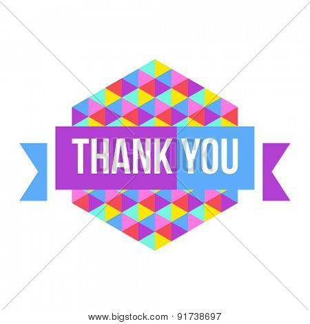 sign Thank You geometric background