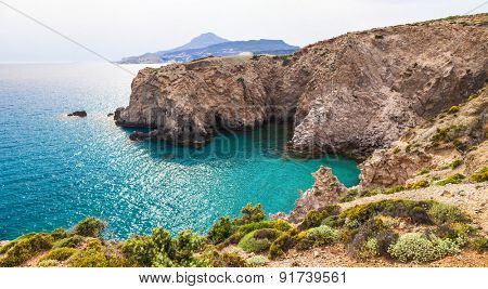 beautiful beaches of Greece - Fyriplaka, Milos island