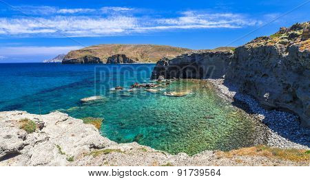most beautiful beaches of Greece - Papafragas on Milos island