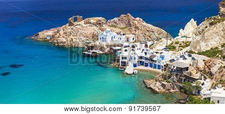 beautiful Greek islands - Milos, Fyropotamos village