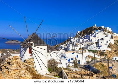 Serifos island,  view of Hora village .Cyclades
