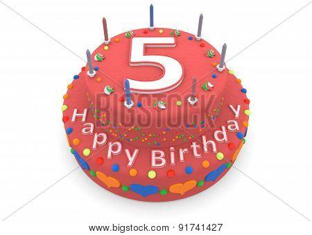 Red Birthday Cake