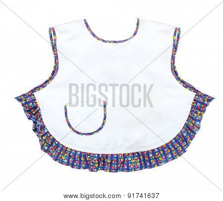 Retro style apron on white background. Picture with space for your text.