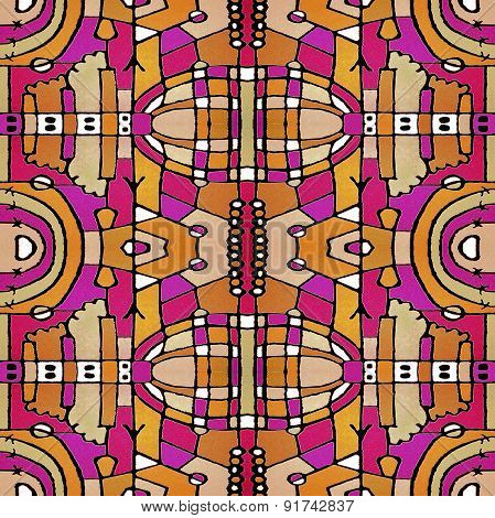 Colorful Geometric Seamless Pattern