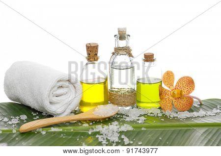 Banana leaf background- spa set