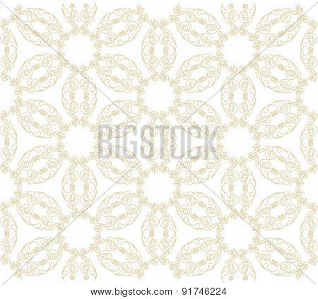 Vector repeating openwork pattern on a transparent background.