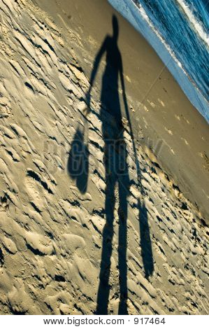 Shadow - Beach Walking