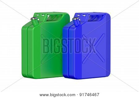 Two Colored Steel Jerrycans