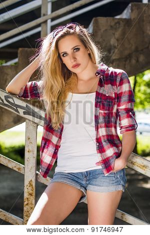 Trendy hipster girl