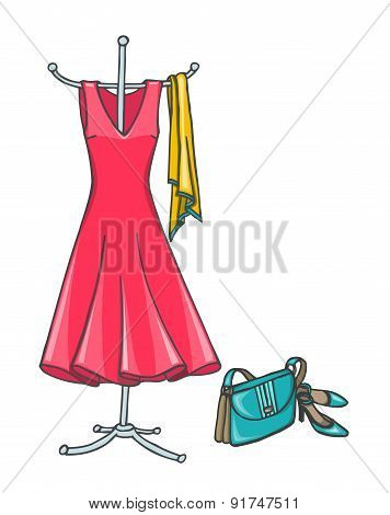 Summer Dress With Accessories