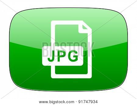 jpg file green icon